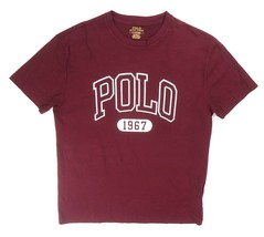 New Polo Ralph Lauren Burgundy Red Graphic 1967 Crewneck Tee T-SHIRT Size S - $29.69