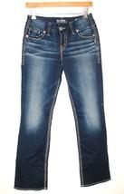 IR SILVER JEANS Mid Slim Boot Denim Pants Woman Flap Pockets Mid Rise *2... - $12.00