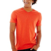 Two (2) Arizona V-Neck Jersey Tee Horizon Orange New With Tags Size XS - $7.99