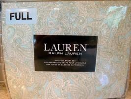 Ralph Lauren 4 PC Cotton Sheet Set ROBIN EGG BLUE WITH PAISLEY FULL - FR... - $69.25