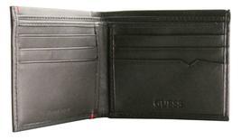 Guess Men's Premium Leather Double Billfold Credit Card Wallet Black 31GU13X030 image 5