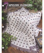 Tapestry Flowers, Annie's Crochet Quilt & Afghan Pattern Club Leaflet QA... - $2.95
