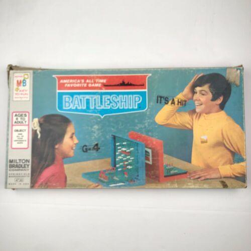 Vintage Battleship Board Game 1971 Milton Bradley Complete Model 4730