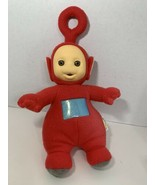 Playskool 1998 Teletubbies Po red plush talking doll flocked face sound - $9.89