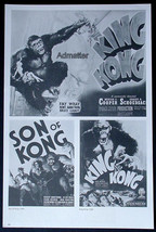 King Kong Fay Wray + Gloria Swanson Indiscreet Movie Ad Poster 40+ Years Old! - $14.49
