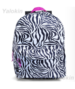 NEW Zebra Lightweight Compact Size Unisex Fashion Backpack Shoulder Book... - $23.99