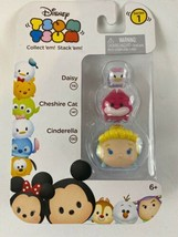 Disney Tsum Tsum 3-Pack Daisy, Cheshire Cat & Cinderella Vinyl Figures-Series 1 - $7.13