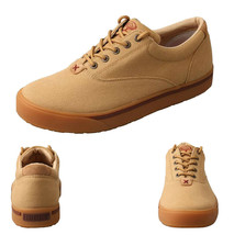 Twisted X Men's Hooey Lopers Beige Canvas Sneaklers Casual Shoes Mhyc003 10 1/2