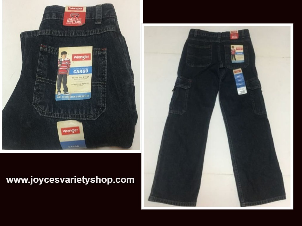 Wrangler boys cargo jeans web collage