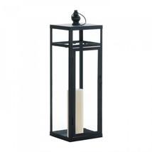 Large Black Dramatic Geometry Lantern - $34.72