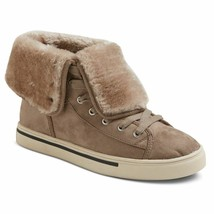Mossimo Sneakers Size 6 Sienna Womens Brown Faux Suede Shearling Lined L... - $15.99