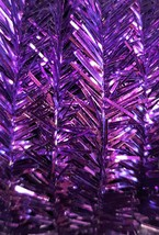 Purple tinsel garland, 5 yds - $1.00