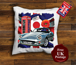 TVR Cerbera Cushion Cover, TVR Cerbera Cushion, Union Jack, Mod Target, Poppy, - $9.01+