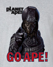 Planet of the Apes Go Ape!  T-shirt retro sci fi original film gray heather tee  image 2