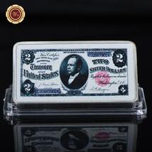 WR US 1891 $2 The Silver Dollar 1 Oz Silver Collector Bar Retirement Men... - $4.99