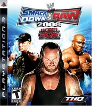 WWE SmackDown vs. Raw 2008 - Playstation 3 [video game] - $16.95