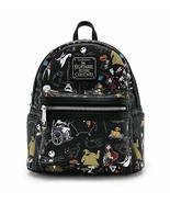 Loungefly Nightmare Before Christmas All Character Mini Backpack Black - $57.41