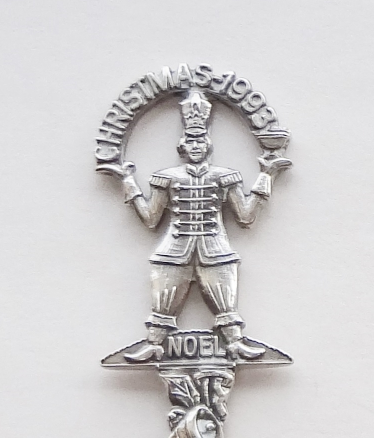 Primary image for Collector Souvenir Spoon Christmas 1993 Nutcracker Toy Soldier Figural Repousse