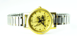 Women's Wittnauer 24mm Gold Tone Pegasus Gold Dial Quartz Wristwatch Str... - $15.83