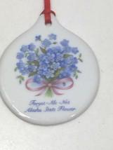 Vintage Alaska State Flower Christmas Ornament Forget Me Not Holiday 24285 - $11.69