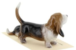Hagen Renaker Dog Basset Hound Papa and Pup Lying Ceramic Figurine Set image 6
