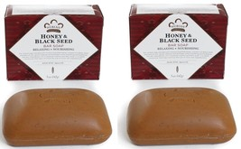 "TWIN PACK of Nubian Heritage Bar-""Honey& Black Seed -5oz Soaps/Shea Butter - $9.89"