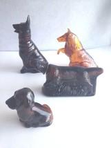 Vintage AVON 4 Empty Bottles DOG Decanters Hunting,German Shepard, Blood... - $26.87