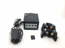 Nintendo GameCube Console System 2 Remotes DOL-001 Black Tested - $62.63
