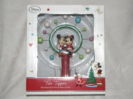 Disney Store Christmas Tree Topper Mickey Minnie Mouse Retro Look Star - $56.42