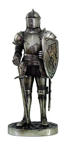7 Inch Medieval Knight with Shield and Sword Statue Figurine