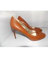 Dolce Gabbana Brown Open Toe STILETTO Pumps Heels Women 38.5 (7.5) Used - $188.09