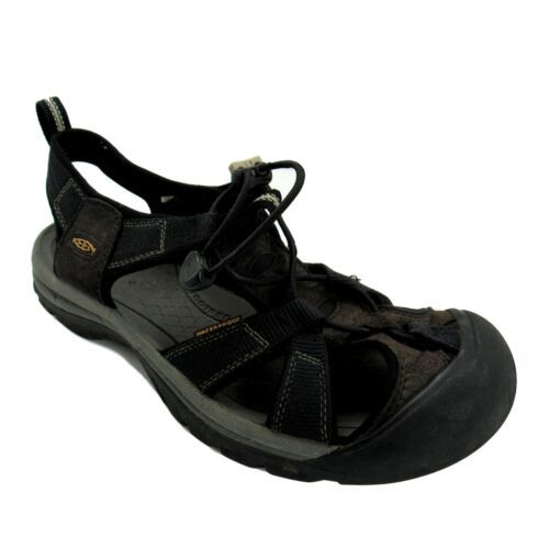 Keen Sandals Mens Size 10 Navy Brown Waterproof Sport Hiking Newport