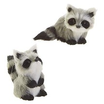 Cutesy Black White Raccoon 3.5 inch Polyester Decorative Holiday Ornamen... - $44.72