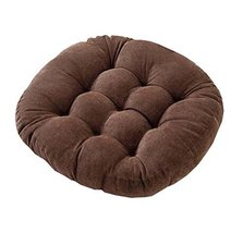 21-Inch Round Floor Pillow Tufted Support Padded Boosted Cushion, Brown - $38.07