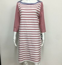 NWT TOMMY Hilfiger Boat-neck Shirt Dress Red Stripe Chambray Collar L - $27.99