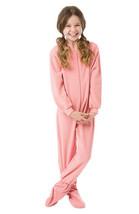 Big Girls Kids Pink Fleece Footed Pajamas One Piece Sleeper Footie Pajamas - $39.99