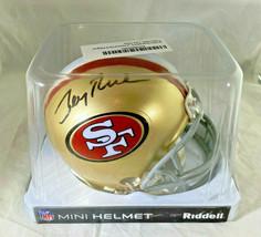 JERRY RICE / NFL H.O.F / AUTOGRAPHED SAN FRANCISCO 49ERS MINI HELMET / RICE HOLO image 9
