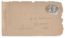 1880s Laona Illinois Cover w/ TERRIFIC Chicago Cancel Postmark! IL Scott... - $7.69