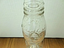 Vintage 1920 Half Pint Nu Icy Tall Clear Glass Curvy Soda Bottle - $15.15