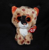 "6"" TY BEANIE BOOS BUCKWHEAT LYNX ORANGE KITTY CAT STUFFED ANIMAL PLUSH T... - $14.03"