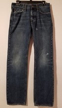 American Eagle Men's Distressed Straight Leg Button-Fly Jeans Sz 29X32 - $263,10 MXN