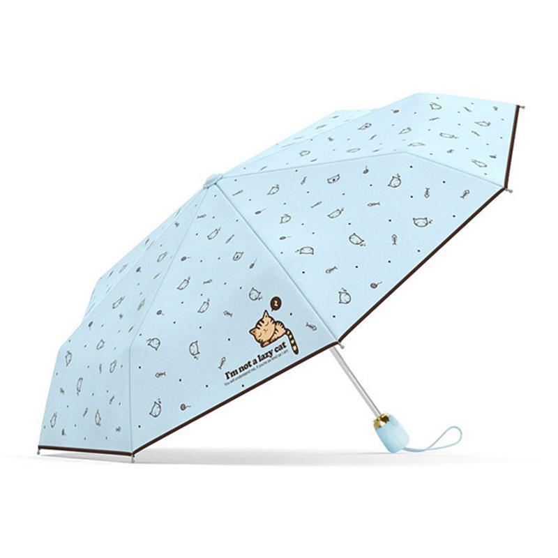 Automatic Umbrella Rain Women Lovely Cat Umbrellas Windproof Coating Anti UV