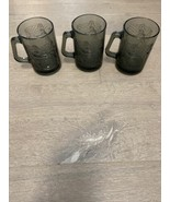 Vintage Set (3) McDonald's Smoked Glass Coffee Mugs Cups Captain Crook B... - $15.00