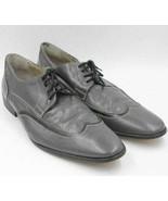 Giorgio Brutini Men Wingtip Oxfords Size US 12 Gray Black Leather - $18.00