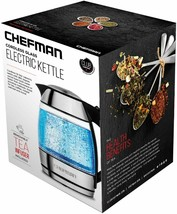 pre Chefman Electric Cordless Glass Tea Kettle with Included Infuser LED - €33,40 EUR