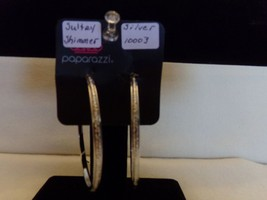 Paparazzi Earrings (new) Sultry Shimmer  /Silver Hoops  10003 - $8.61