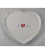 Vintage 1994 LTD Commodities Stoneware Heart Shaped Ceramic Pottery Tray... - $15.99