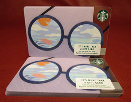 Lot of 6 Starbucks, 2017 Sparkling Blue Sky Lens Glasse Gift Cards New with Tags - $10.16
