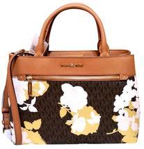 Michael Kors Hailee medium Satchel  brown floral Handbag Kellen NWT - $153.00