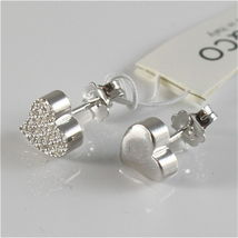 EARRINGS SILVER 925 JACK&CO WITH HEART LOVE WITH ZIRCON CUBIC JCE0454 image 4